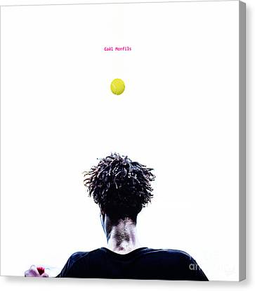 Gael Monfils Canvas Print by Nishanth Gopinathan