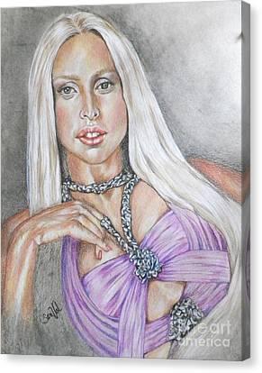 Gaga I Live On The Applause Canvas Print