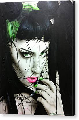 Lady Gaga - ' Gaga Iv ' Canvas Print by Christian Chapman Art