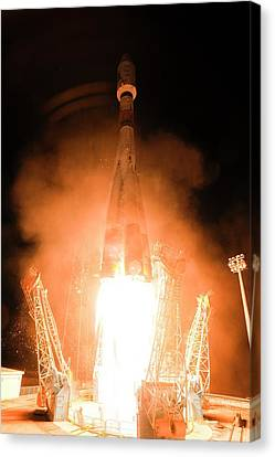 Gaia Space Probe Launch Canvas Print by S Corvaja/european Space Agency