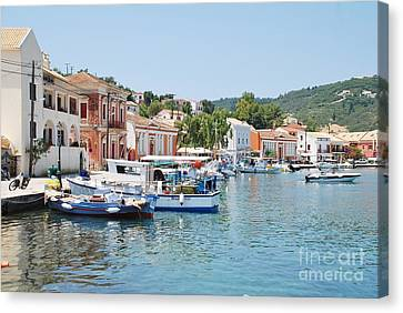 Gaios Harbour On Paxos Canvas Print