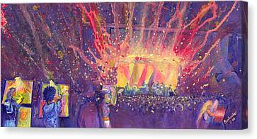 Galactic At Arise Music Festival Canvas Print by David Sockrider