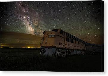 Galactic Express Canvas Print by Aaron J Groen