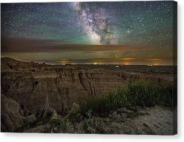 Galactic Pinnacles Canvas Print by Aaron J Groen