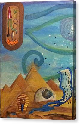 Galactic War Egyptian Release  Canvas Print by TheKingofIdeas TKOI