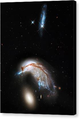 The Universe Canvas Print - Galaxies Collide  by Jennifer Rondinelli Reilly - Fine Art Photography