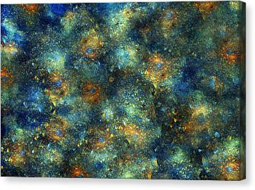 Galaxies  Canvas Print by Betsy C Knapp