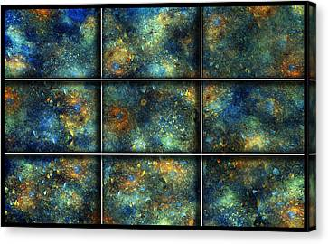 Galaxies II Canvas Print by Betsy C Knapp