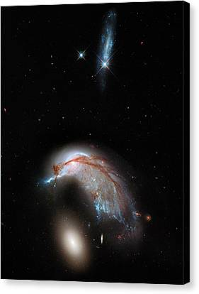 Galaxies Interacting Canvas Print