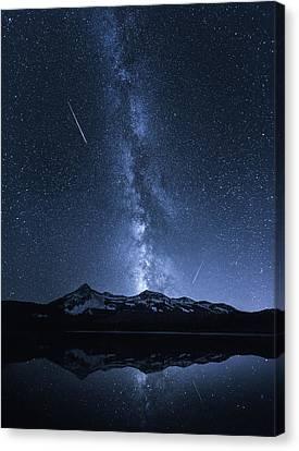 Galaxies Reflection Canvas Print