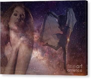 Galaxy Goddess Canvas Print by Maureen Tillman