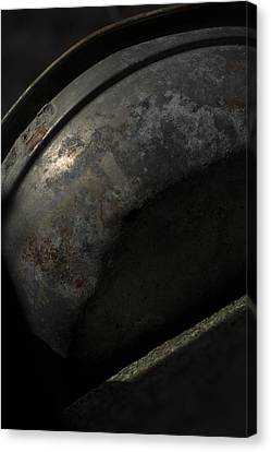 Canvas Print featuring the photograph Galaxy In A Galvanized Pan by Rebecca Sherman