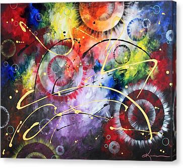 Galaxy Canvas Print by Kume Bryant