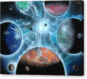 Galaxy Canvas Print by Markus Fussell