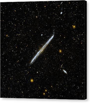 Galaxy Ngc 4565 Canvas Print by Nasa/jpl-caltech