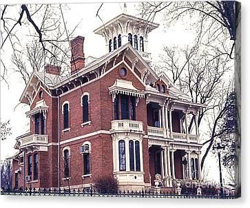 Galena Illinois. The Beautiful Victorian Belvedere Home. Canvas Print