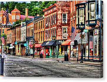 Galena Main Street Early Summer Morning Canvas Print