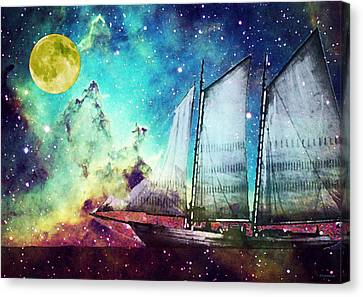 Galileo's Dream - Schooner Art By Sharon Cummings Canvas Print by Sharon Cummings