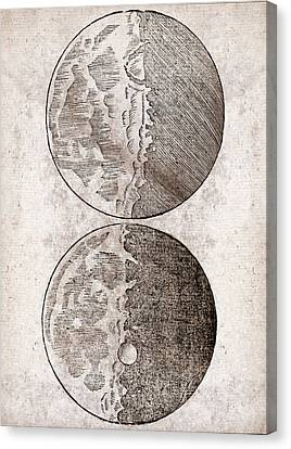 Galileo's Moon Observations Canvas Print by Middle Temple Library