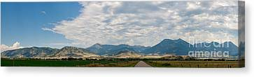 Canvas Print featuring the photograph Gallatin Range Panoramic by Charles Kozierok