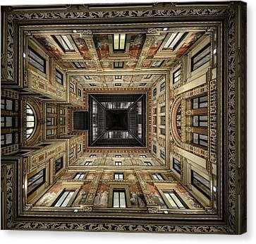 Pov Canvas Print - Galleria Sciarra by Renate Reichert
