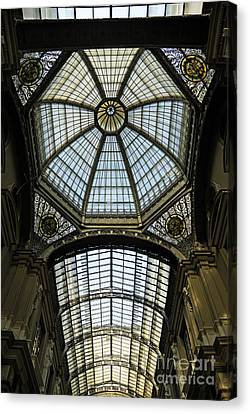Gallery Glass Roof Of The City Hall Building Canvas Print by Sami Sarkis