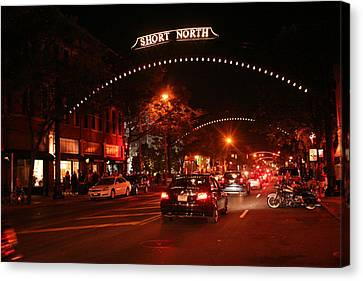 Gallery Hop In The Short North Canvas Print by Laurel Talabere