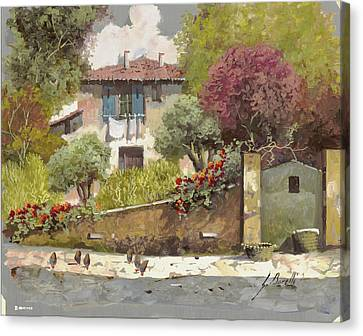 Galline Canvas Print by Guido Borelli