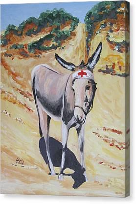 Gallipoli Donkey Canvas Print by Leonie Bell