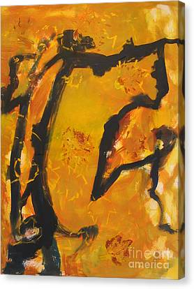 Canvas Print featuring the painting Gallop  In The Fall by Fereshteh Stoecklein