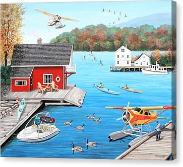 Galloping Goose Lake Canvas Print