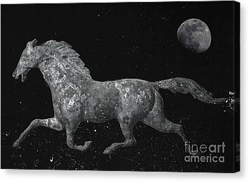 Galloping Through The Universe Canvas Print by John Stephens