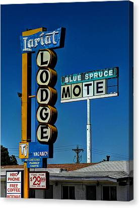 Gallup Nm - Vintage Motel Signs 001 Canvas Print by Lance Vaughn