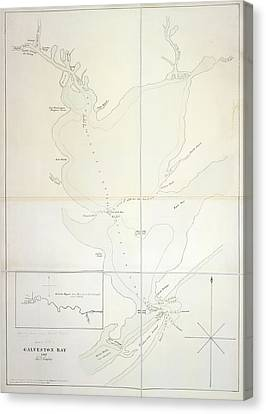 Galveston Bay Canvas Print by British Library