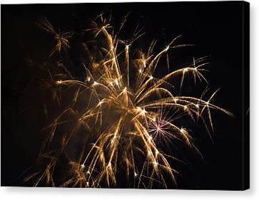 Galveston Fireworks Canvas Print by Jason Brow