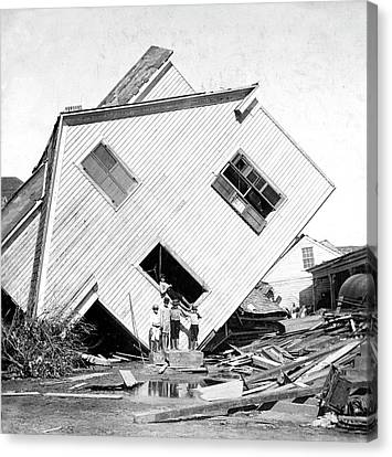 Galveston Hurricane Damage Canvas Print by Library Of Congress