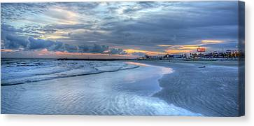 Galveston Sunset Canvas Print