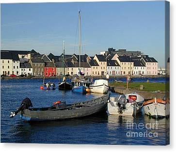 Galway Harbour At The Claddagh Canvas Print