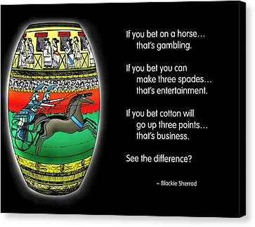Gambling Canvas Print by Mike Flynn