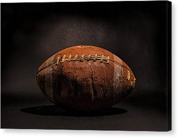 Football Canvas Print - Game Ball by Peter Tellone
