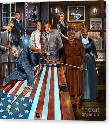 Democrats Canvas Print - Game Changers And Table Runners P2 by Reggie Duffie