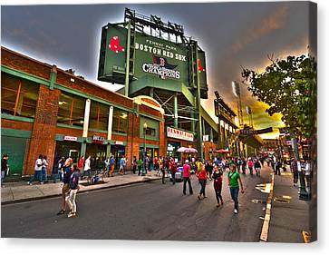 Game Night Fenway Park Canvas Print by Toby McGuire
