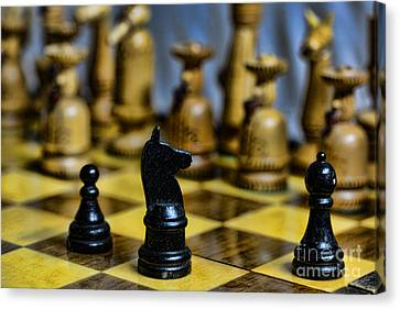 Game Of Chess Canvas Print