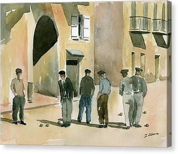 Petanque Canvas Print - Game Of Petanque by Ian Osborne