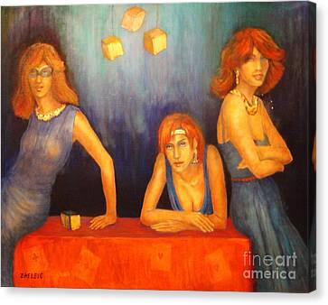 Game Table  Canvas Print by Dagmar Helbig