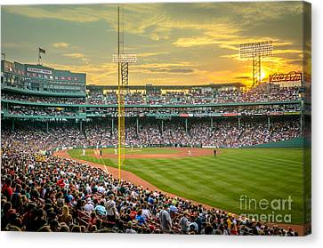 Fenway Park Canvas Print by Mike Ste Marie