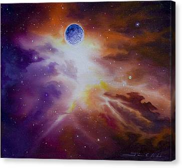 Headstones Canvas Print - Gamma Nebula by James Christopher Hill