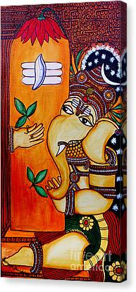 Ganapathy Canvas Print by Saranya Haridasan