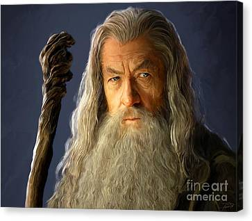 Gandalf Canvas Print by Paul Tagliamonte