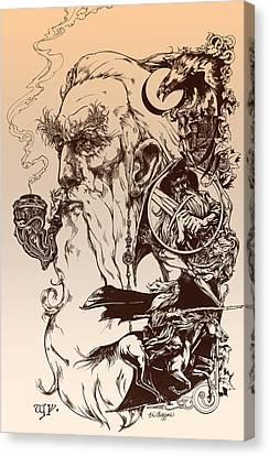 gandalf- Tolkien appreciation Canvas Print by Derrick Higgins